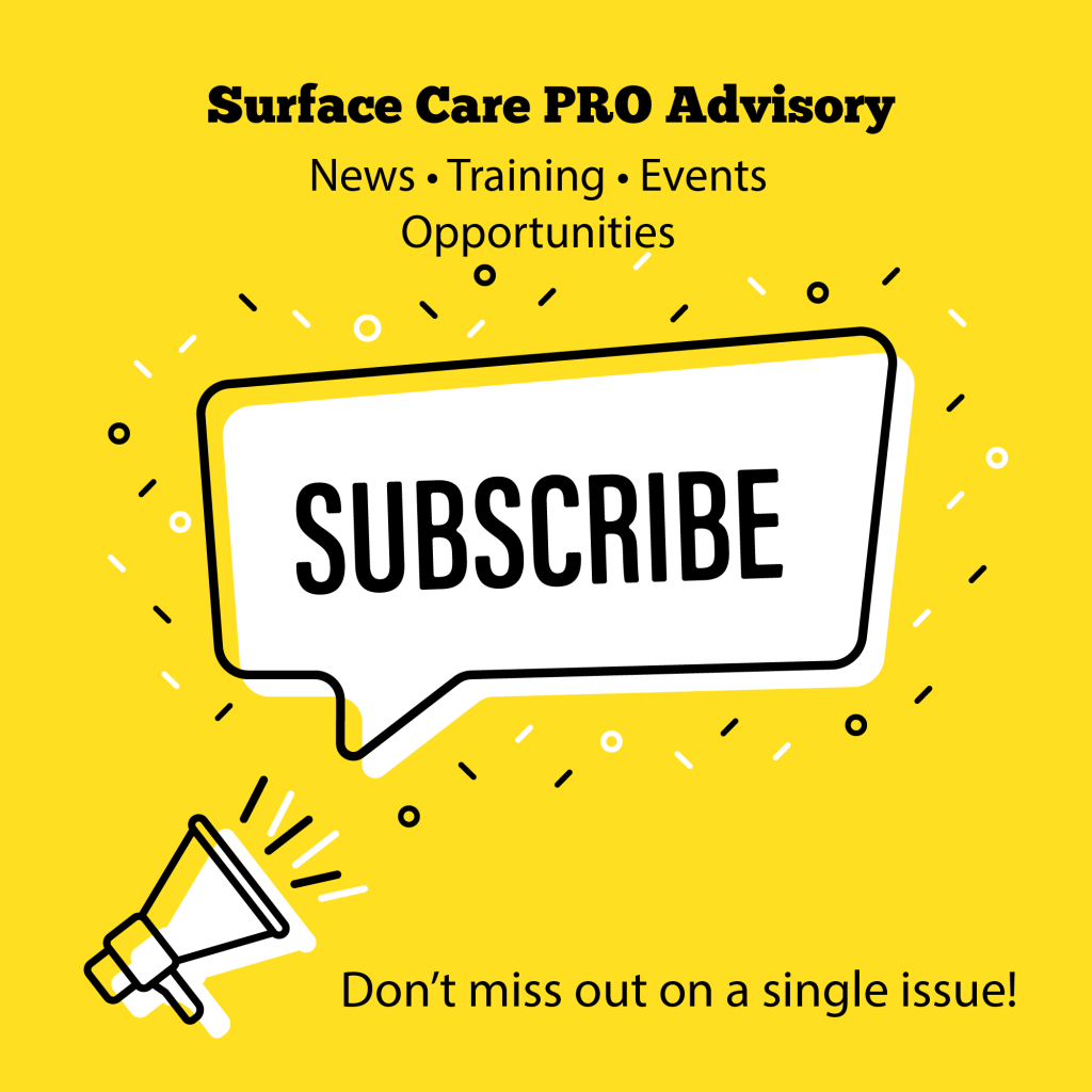 Subscribe to Surface Care PRO Advisory